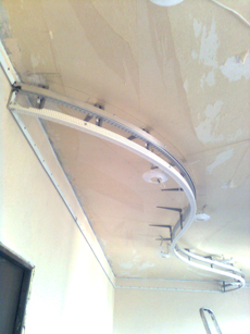 Как сделать изогнутый двухуровневый потолок из гипсокартона на кухне