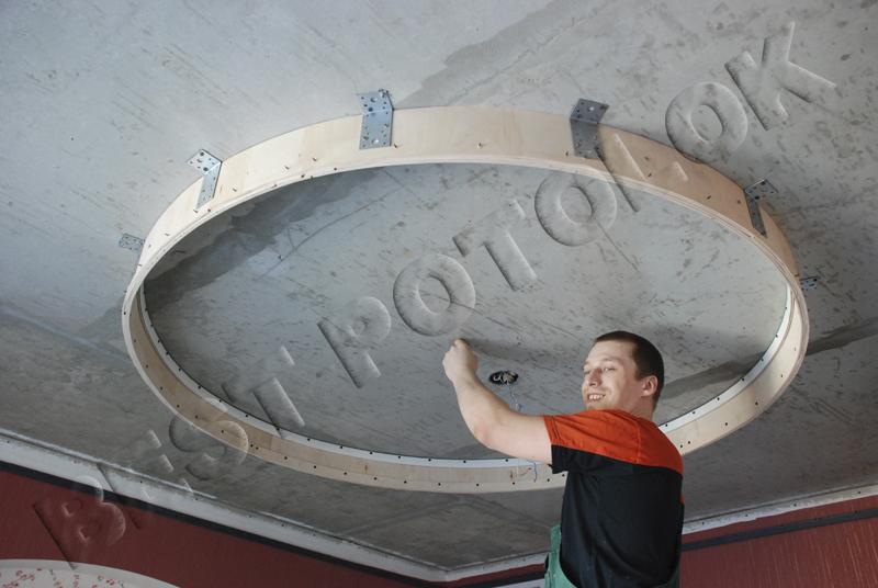комнату коммуналке, как сделать овал на потолке из гипсокартона видео поддержку олимпийской сборной